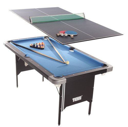 Tekscore Folding-leg Pool Table with Table Tennis Top (5ft)