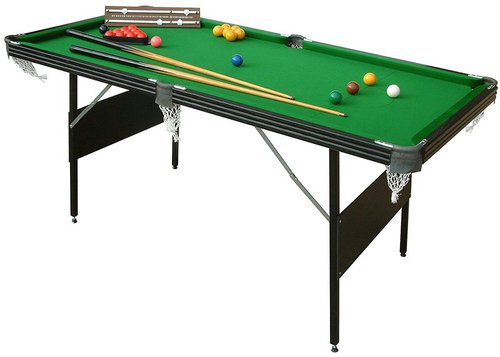 Crucible 2-in-1 Fold Up Pool/Snooker Table (6ft)