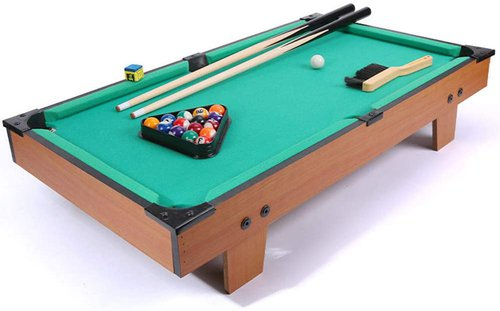 Portable Table Top Pool Games Set