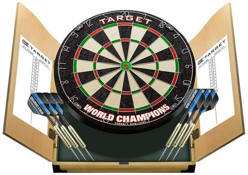 Target World Champions Dartboard and Cabinet Set