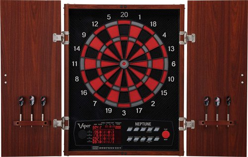 Viper Neptune Electronic Dartboard with Classic Cabinet Doors