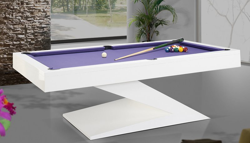 Zen Slate Bed Pool Table White